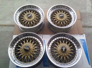 "BMW BBs RC090 Split Rims 17"" BBs RS RC LM Style 5 Gold Wheels BMW M3 M5 M6 Coupe"