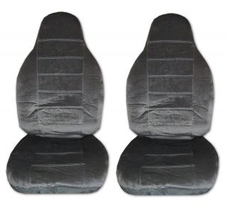 Encore High Back Car Truck Seat Covers Charcoal Grey 2
