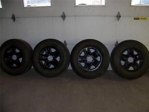 4 Toyota Tundra Tacoma BF Goodrich Rugged Trail P275 65R18 Tires on Black Rims