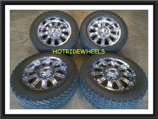 "20"" Toyota Tundra Chrome Wheels with BF Goodrich Tires 285 55 20 178C"