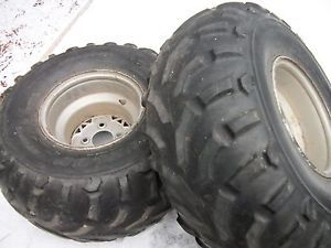 1994 Polaris 400L 4x4 ATV Rear Rims Wheels 25x12 10 Dunlop KT125 Tires