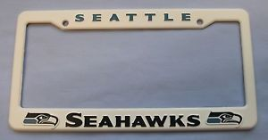 Seattle Seahawks NFL Plastic License Plate Frame Officially Licensed Free SHIP