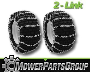 A295 Snow Mud Tire Chains 15x5 00x6 2 Link Blower Thower Pair