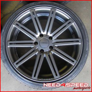 "20"" Cadillac cts Sedan Vossen VVS CV4 Matte Graphite Wheels Rims Hankook Tires"