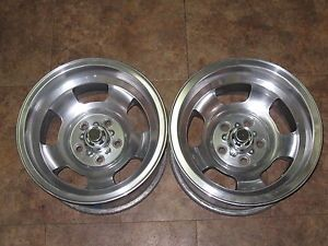 Nice 15x8 5 Chevy Camaro Chevelle Polished American Racing Slot Mag Wheels Rims