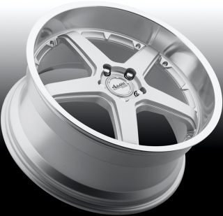 18x9 5 Advanti Racing Traktion 5x114 3 ET35 Silver Rims Wheels
