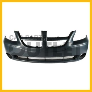 01 04 Dodge Caravan Sport Front Bumper Cover Primered Smooth ES Round Fog Holes