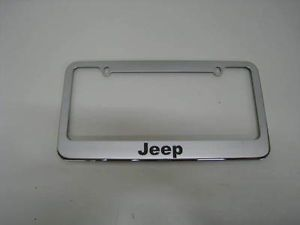 Jeep Chrome Metal License Plate Frame All Models New