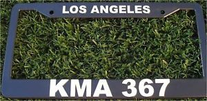 LAPD KMA 367 Police License Plate Frame Call Sign Los Angeles California