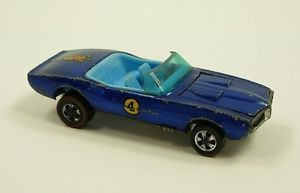 Vintage Redline Hot Wheels Custom Firebird Blue