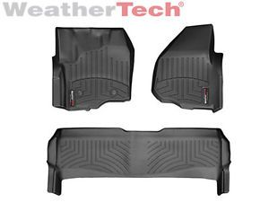 Weathertech® Floor Mats Floorliner Ford Super Duty Supercrew 2012 2014 Black
