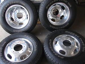 "6 17"" 2013 Ford F350 F 350 Dually Factory Wheels BFGoodrich Tires"