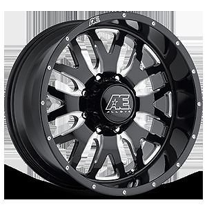 "Eagle Alloy Hard Rock Series 507 Black Wheels 18x9 18"" Rims F250 2500HD Dodge"