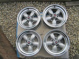 4 Chevy Pontiac Buick American Racing Daisy Wheels Bottle Top Rims 15x7 RARE