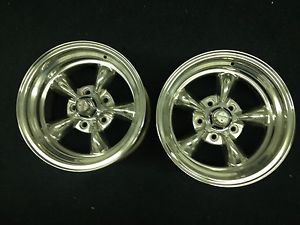 American Racing Polished Aluminum Wheels Pair 2
