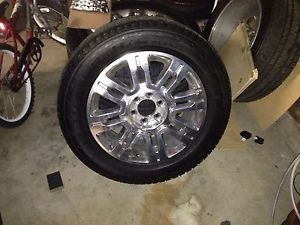 "4 20"" Ford F 150 Expedition Platinum Edition Wheels Rims Bridgestone Tires"