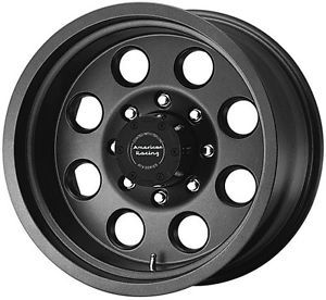 16 inch ATX Mojave Black Wheels Rims 8x6 5 8 Lug Chevy