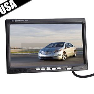"7"" TFT LCD Color Car Rearview Headrest 16 9 Monitor DVD VCR with IR Remote"