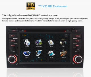 New in Dash Car Radio CD DVD  Player GPS BT iPod Audio F Audi A4 2003 2008