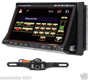 "7""in Dash 2Din Car DVD Player GPS Navigation Stereo Cam"