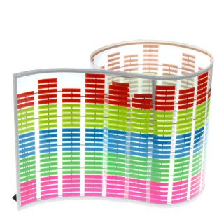 90 25cm Colourful Sound Music Activated Car Sticker Equalizer LED Flash Light US