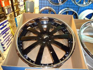 "24"" Forgiato Concavo Black Chrome Wheels Bentley GT and GTC Flying Spur"