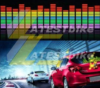 90 25cm Car Sound Music Activated Stickers Equalizer Glow 12V LED Light