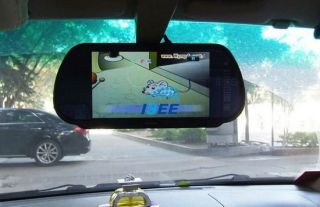 "7"" TFT LCD Color Screen Car Mirror Monitor Reverse Rearview Camera"