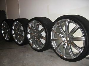 "20"" Genuine Project Kahn RS V Wheels Tires Set Audi VW Bentley"