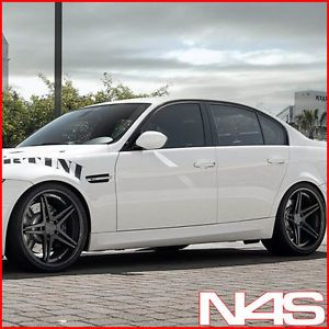 "20"" Audi B8 A5 Vertini Monaco Concave Black Wheels Rims"