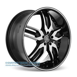 "22"" Velocity VW125 Black Rims for Chrysler Chevrolet Dodge Ford Wheel"