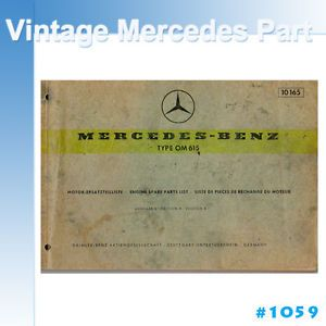 Mercedes Benz W115 220D 240D 200D Engine Spare Parts List for Type OM 615