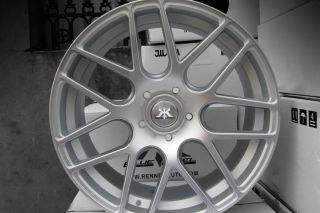 "20"" Infiniti G35 Sedan Rennen RS7 Silver Concave Staggered Wheels Rims"