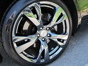 "2012 Infiniti M56 M37 G37 20"" Factory PVD Black Chrome Sport Wheels Rims"