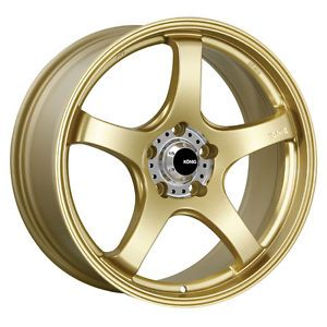 19 Konig Centigram Gold Rims Wheels Mustang Lexus IS250 RX7 M45 Maxima G35 Sedn