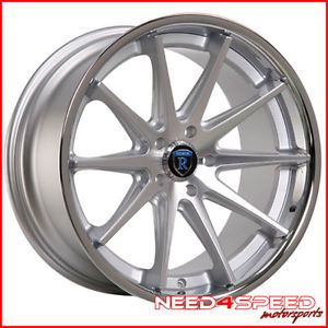 "19"" Nissan Maxima Rohana RC10 Silver Concave Staggered Wheels Rims"