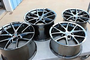 Black Chrome Corvette Spyder Wheels Rims 2006 2013 C6 Z06 ZO6 Grand Sport LS7