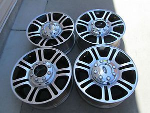 "20"" Ford F250 F350 Factory Super Duty Platinum Black Factory Wheels Rims 2013"