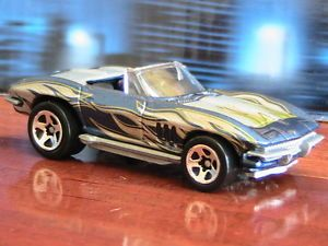 Hot Wheels Corvette Series 1965 Convertible Silver Blue with Flames