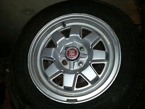 Fiat 5 Rims Tire Wheel Set Cromodora Spider for 124 2000