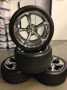 Corvette Grand Sport Chrome Wheels Rims Tires Factory Wheels