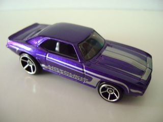 2009 Hot Wheels Muscle Mania 077 69 Camaro Purple 01 10
