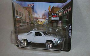 Subaru Brat White Boulevard 2013 Hot Wheels w Custom Chrome Rubber Tires
