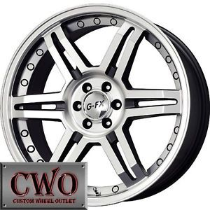 17 Black G FX OR7 Wheels Rims 5x120 5 Lug cts BMW 1 3 Series Acura TL RL GTO X3