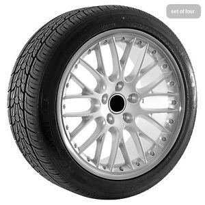 20 inch Silver VW Volkswagen Touareg Wheels Rims Tires