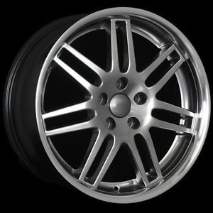 "18"" RS4 Wheels Rims Hype Black Machined Lip Fit Audi A6 C4 C5 C6 A8 D2 D3 D4 RS4"