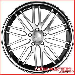 "20"" Cadillac cts V Coupe Stance Evolution Concave Staggered Machined Wheels Rims"