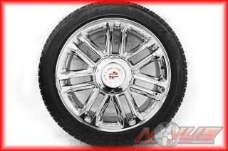 "22"" Cadillac Platinum Escalade Chrome Factory Wheels Bridgestone Tires 20"