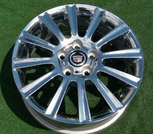 4 New Factory GM Chrome Cadillac 17 inch Wheels DTS cts SLS Eldorado DeVille