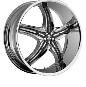 "24"" 2CRAVE No 15 Chrome Wheels Rims Tires Fit Chevy Ford Nissan Cadillac GMC"